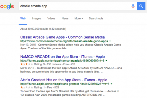 Google search for apps