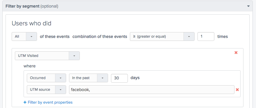 Filter by Segment - Facebook Users