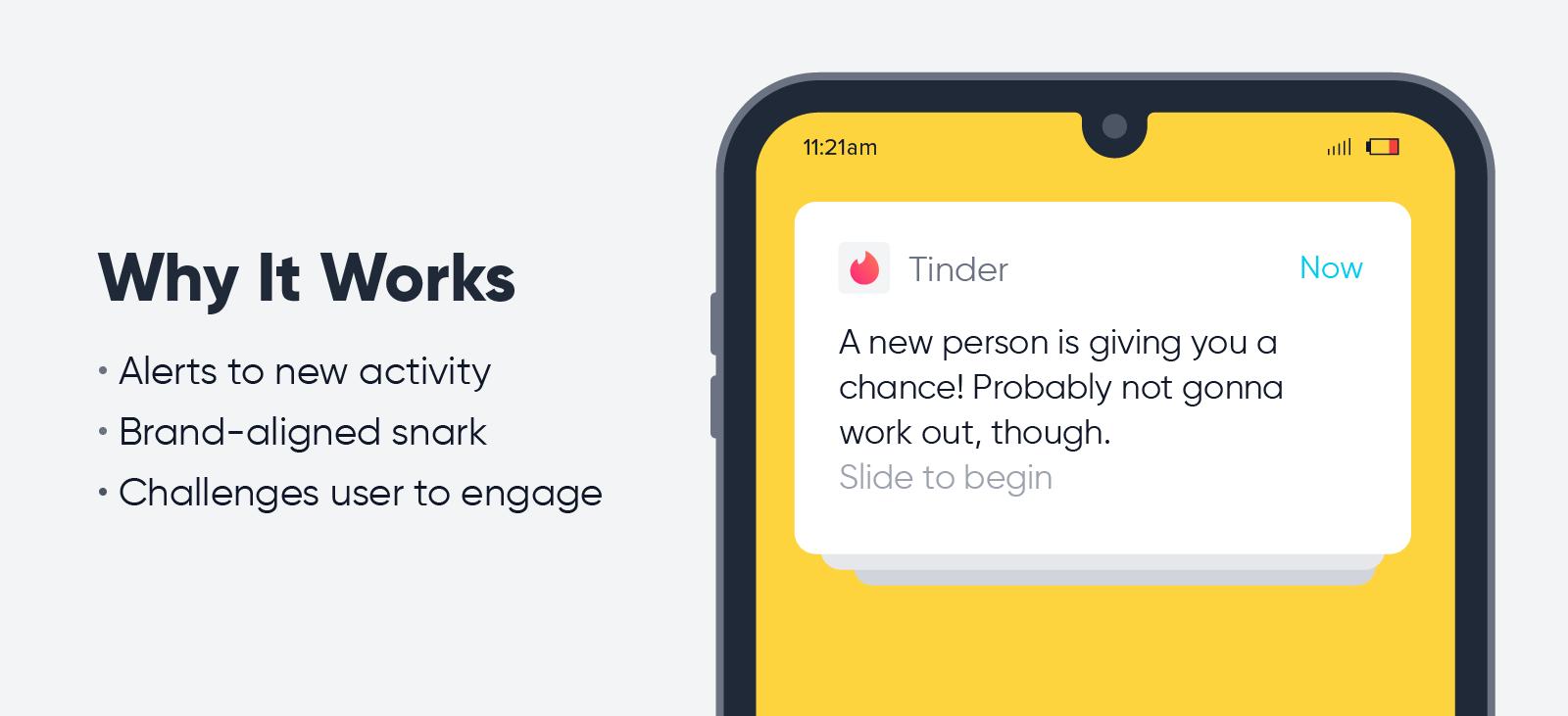 Tinder - push notification best practices