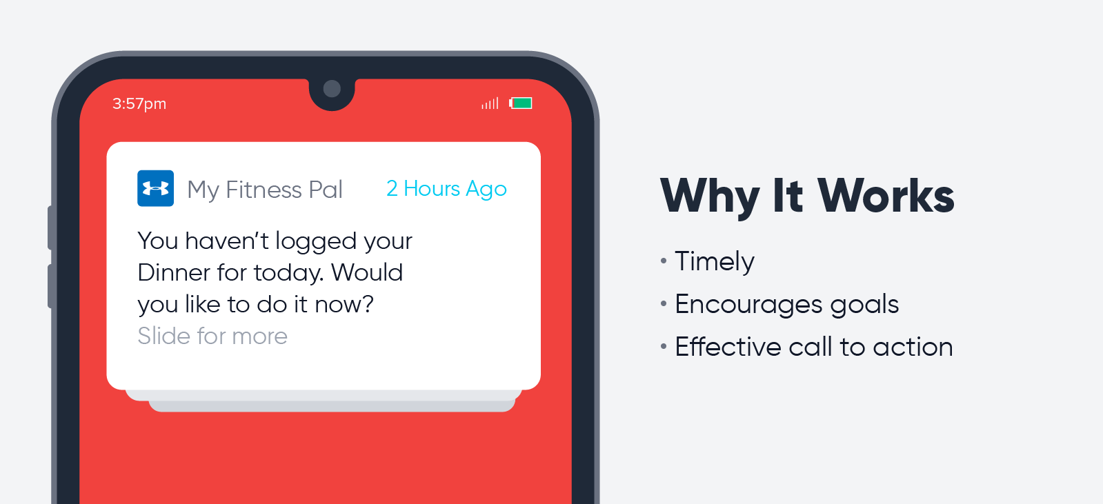 My Fitness Pal - push notification best practices