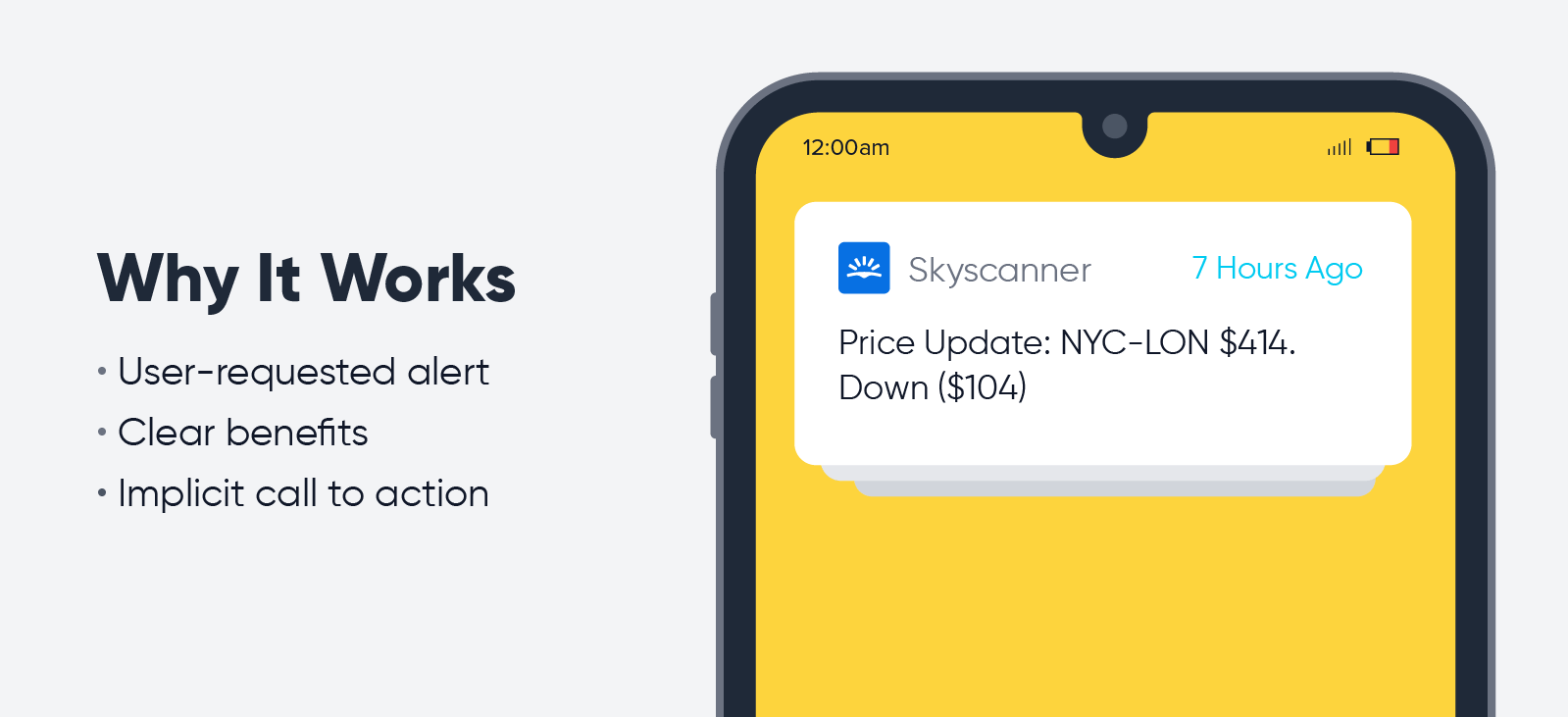 Skyscanner - push notification best practices