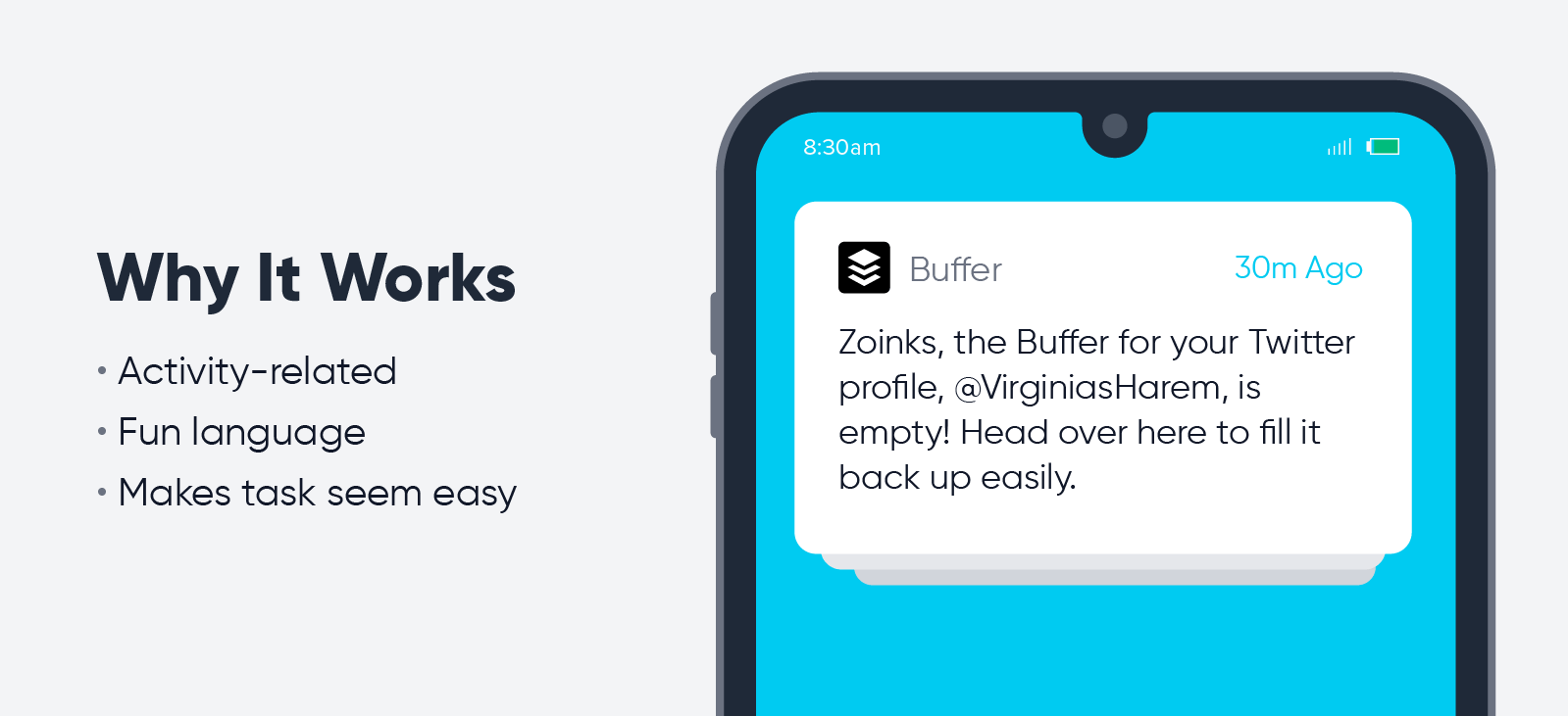 Buffer - push notification best practices