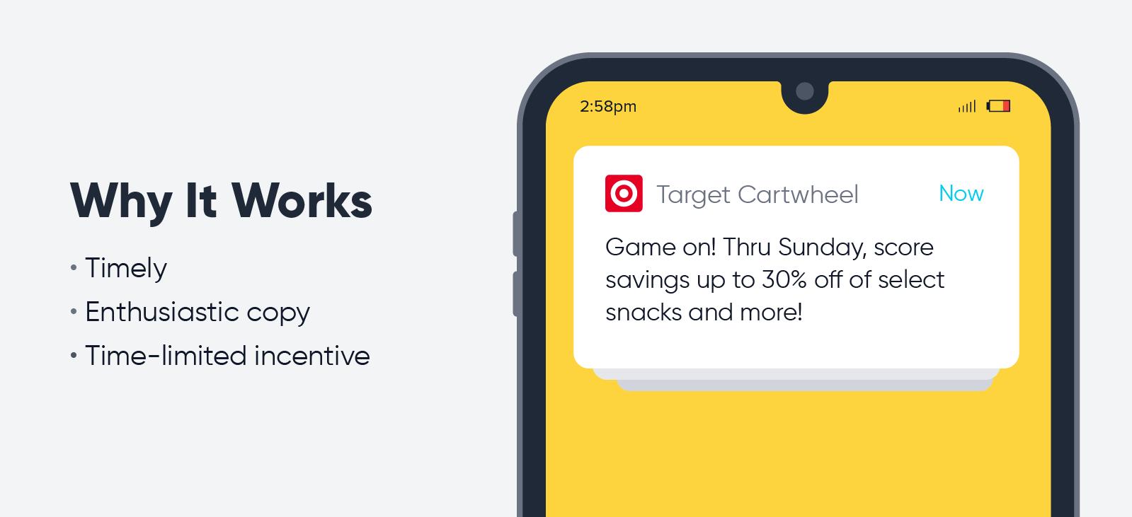 Target Cartwheel - push notification best practices