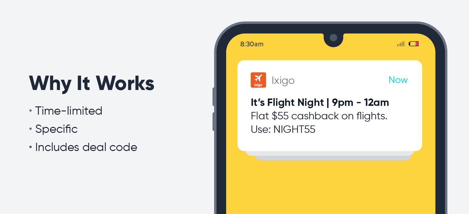 Ixigo - push notification best practices
