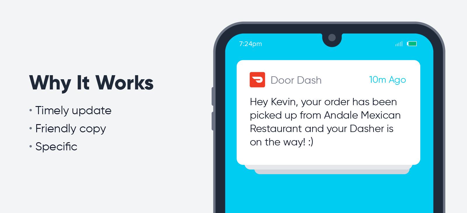 DoorDash - push notification best practices
