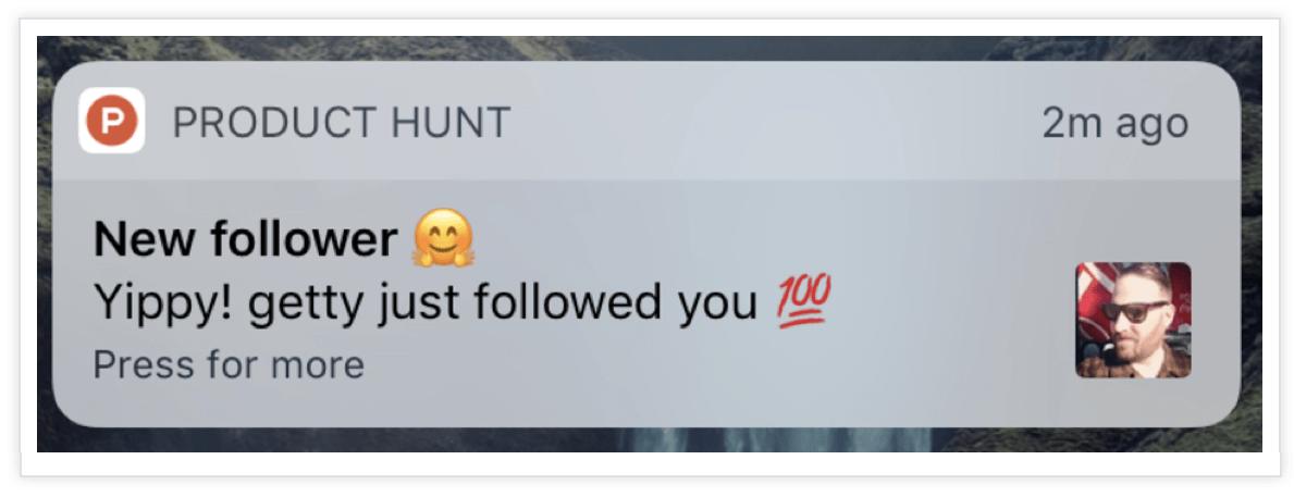 Product-Hunt-Push-Notification