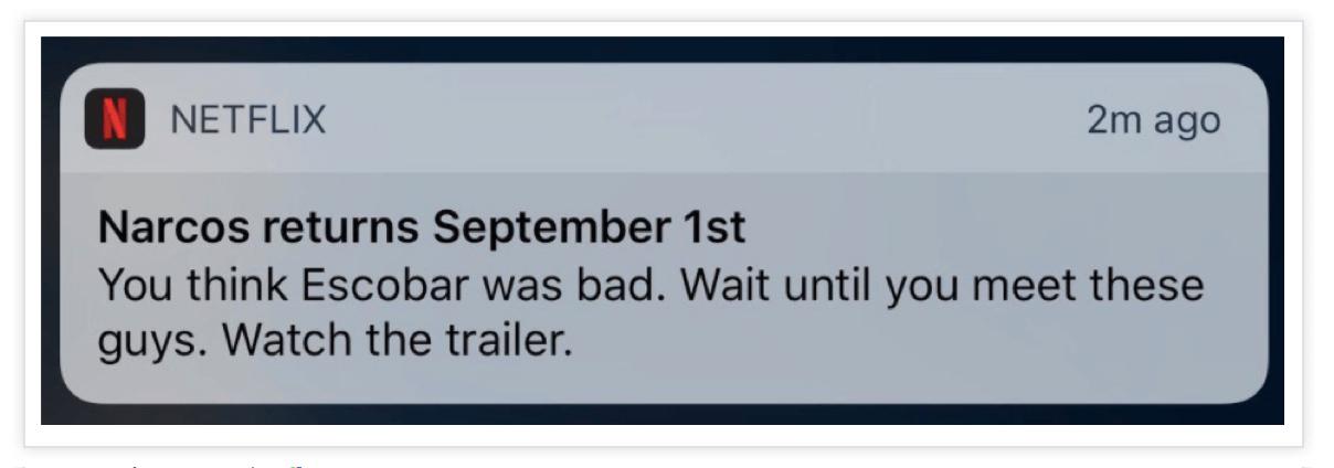 Netflix-Push-Notification