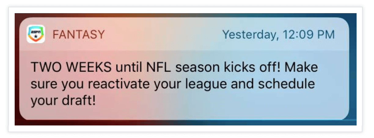 Fantasy-Push-Notification