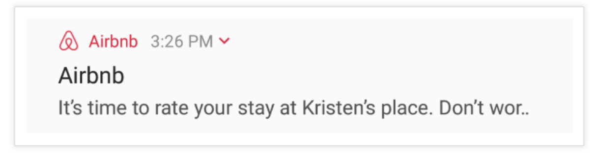 Airbnb-Push-Notification