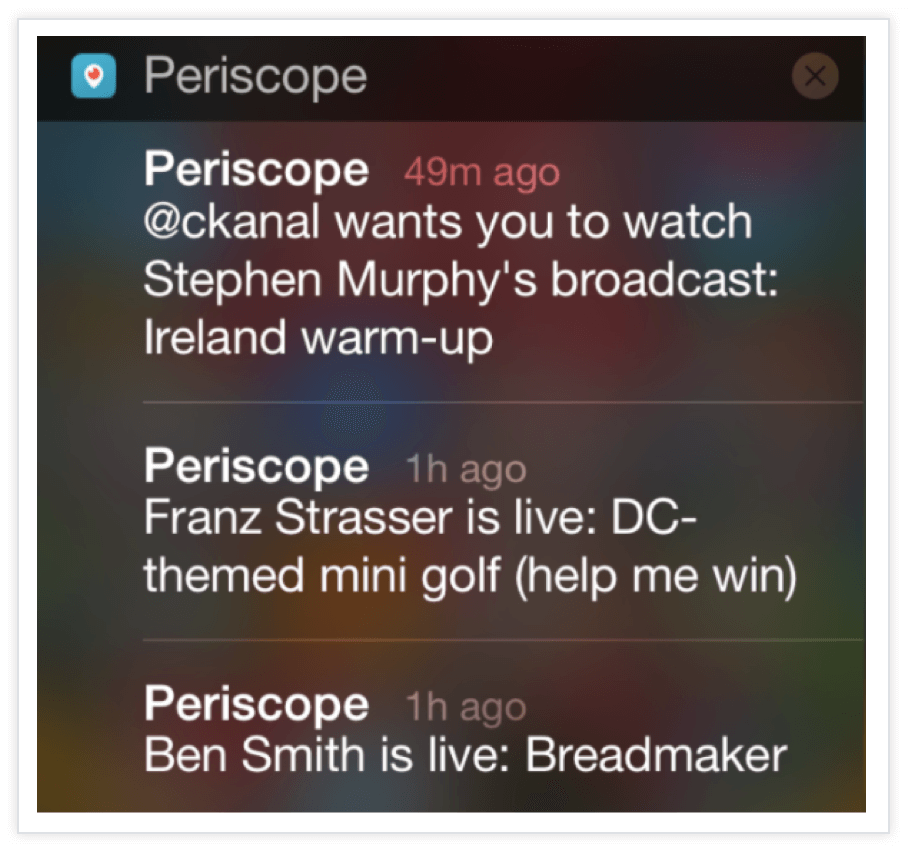 Periscope-Push-Notification