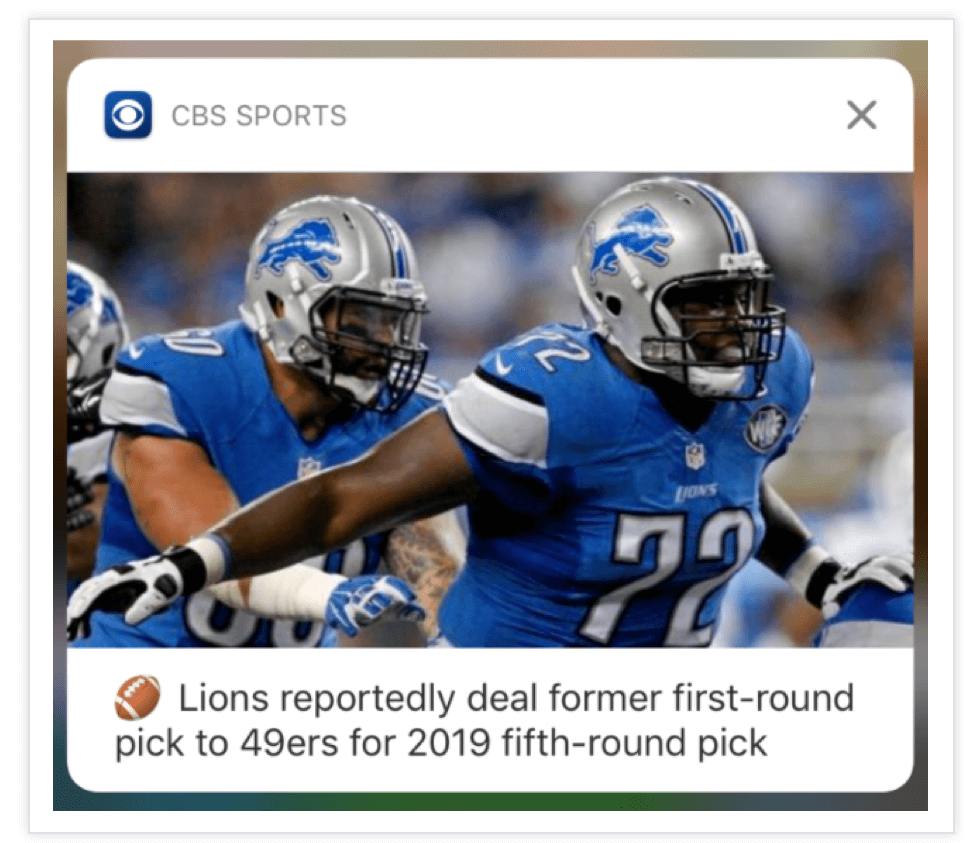 CBS-Sports-Push-Notification