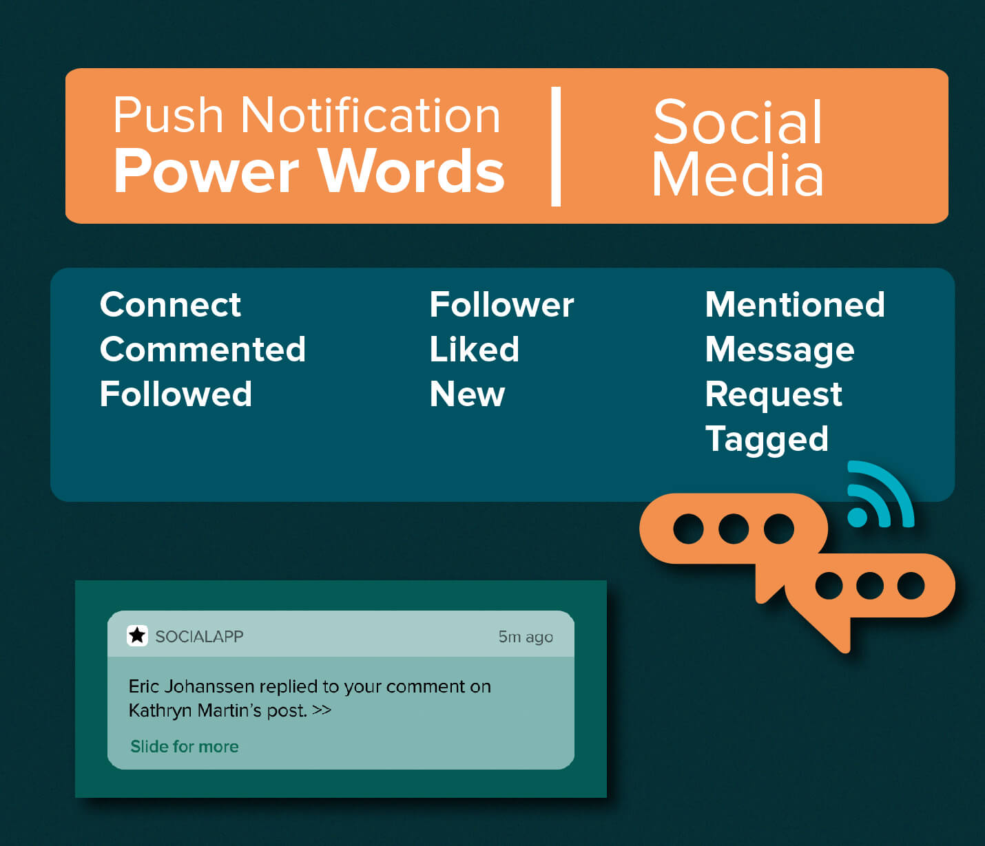 Push Notification Power Words - Social Media Apps