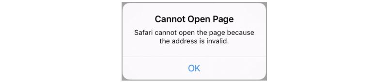 Deep link error