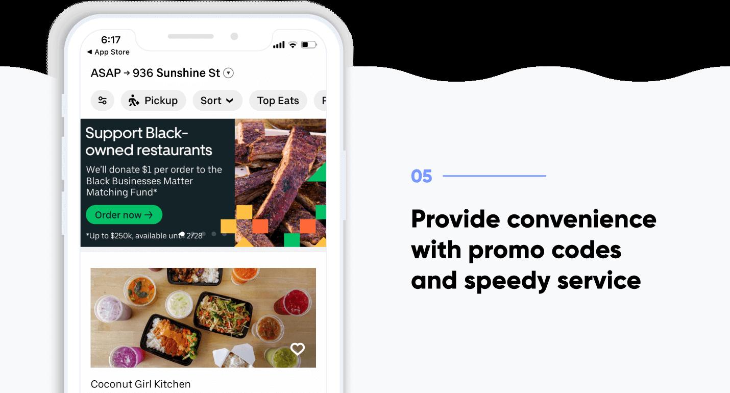 App onboarding - screenshot of UberEats onboarding