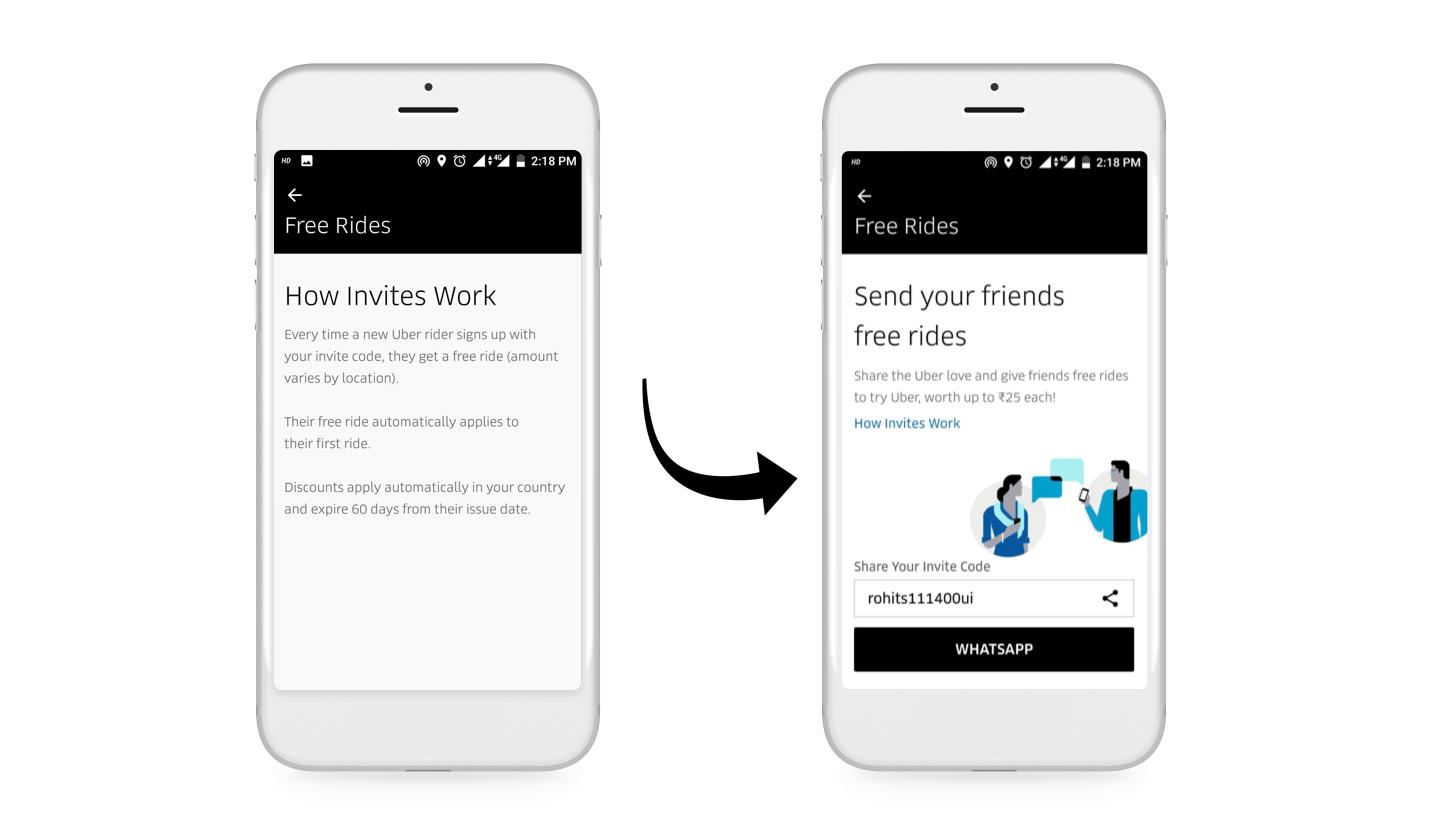 Uber Referral Marketing