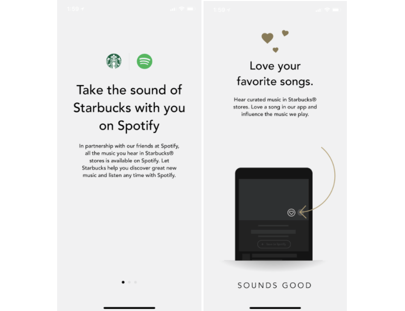 Starbucks offers a full omnichannel experience allowing customers to take the music heard within stores with them on mobile