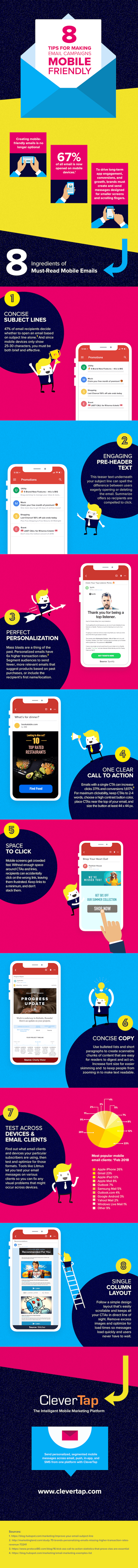 Infographic 8 Tips for Making Email Campaigns Mobile Friendly