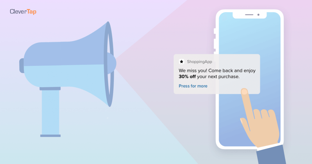 Beat mobile churn rate by sending promo push notifications