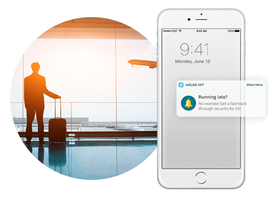 Airline Geofenced Notification