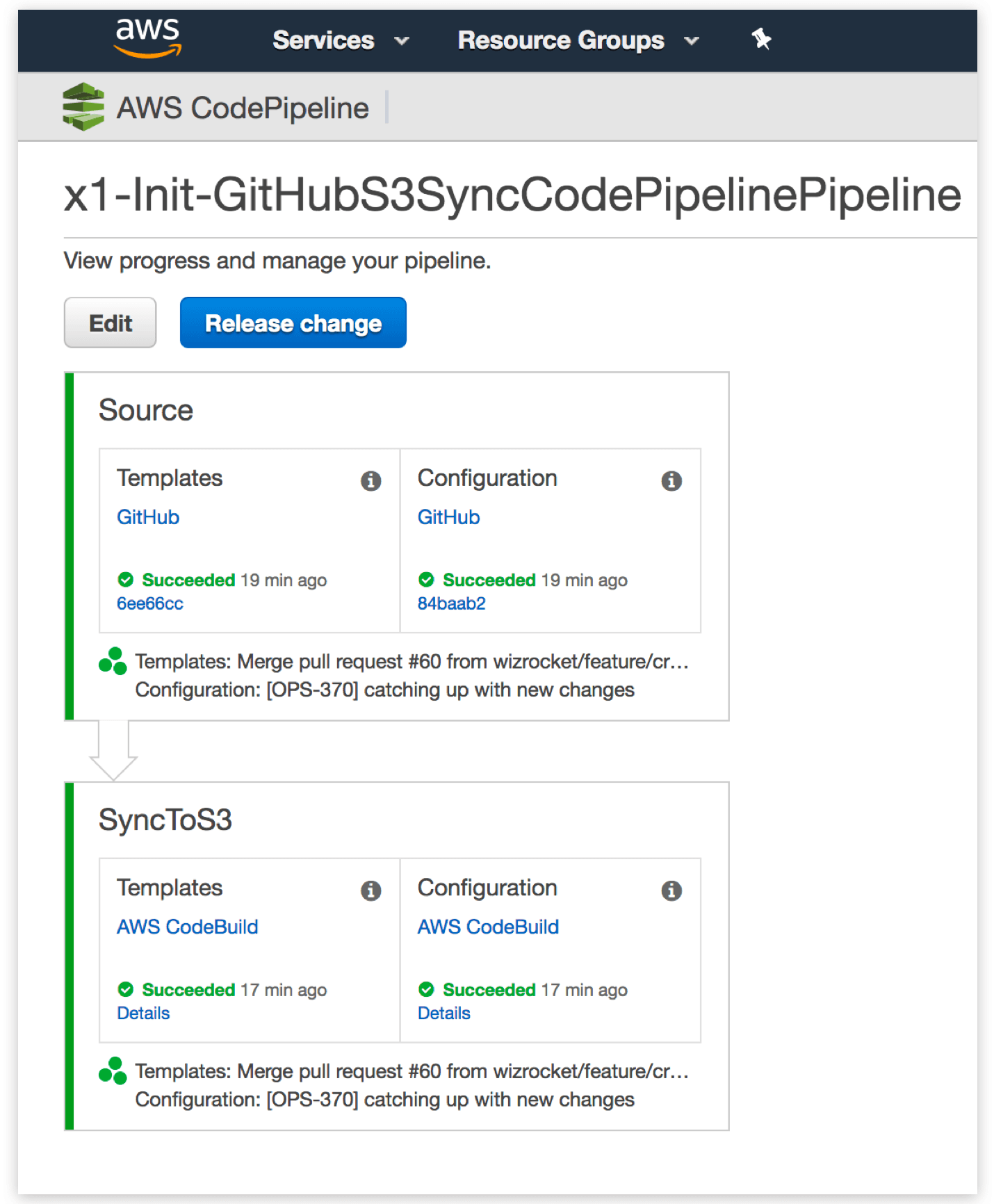 Synchronizing code from GitHub to S3