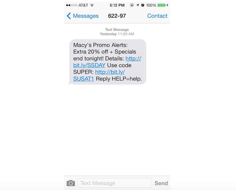 Macys SMS