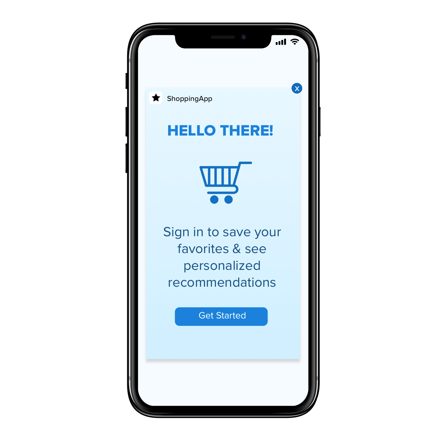 In-app Message Ecommerce