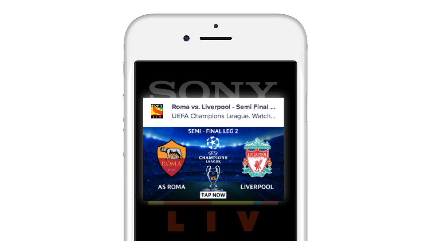 SonyLIV Champions League Push Notification