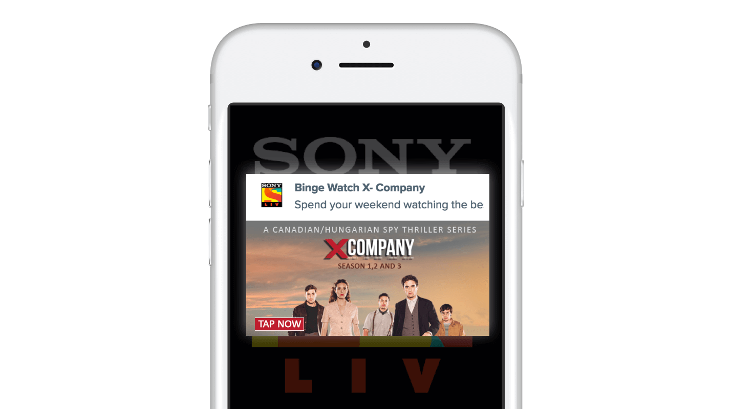 SonyLIV Push Notification Campaigns for Binge Watchers