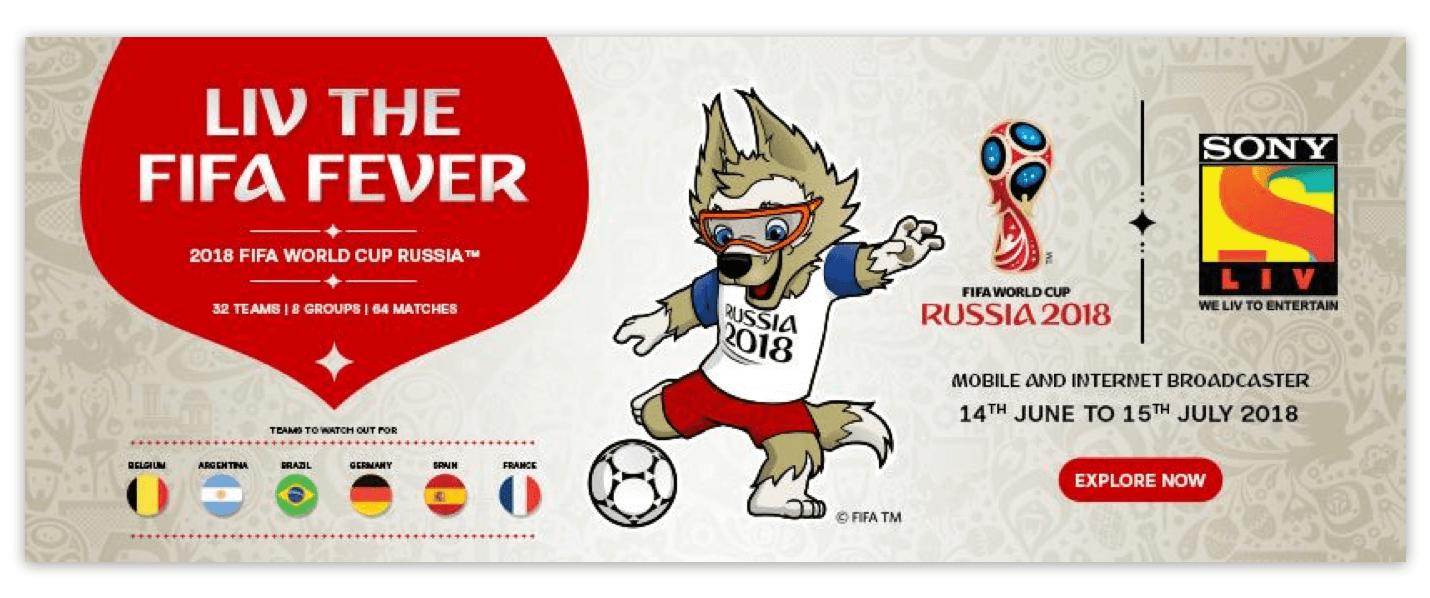 SonyLIV FIFA Ad Banner