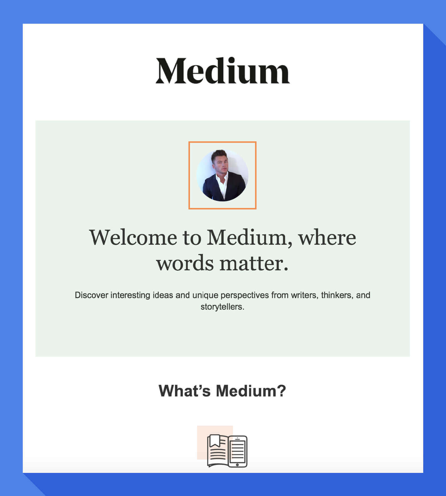 welcome message personalized headshot within medium welcome email