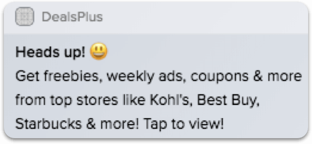 Dealsplus Push Notification