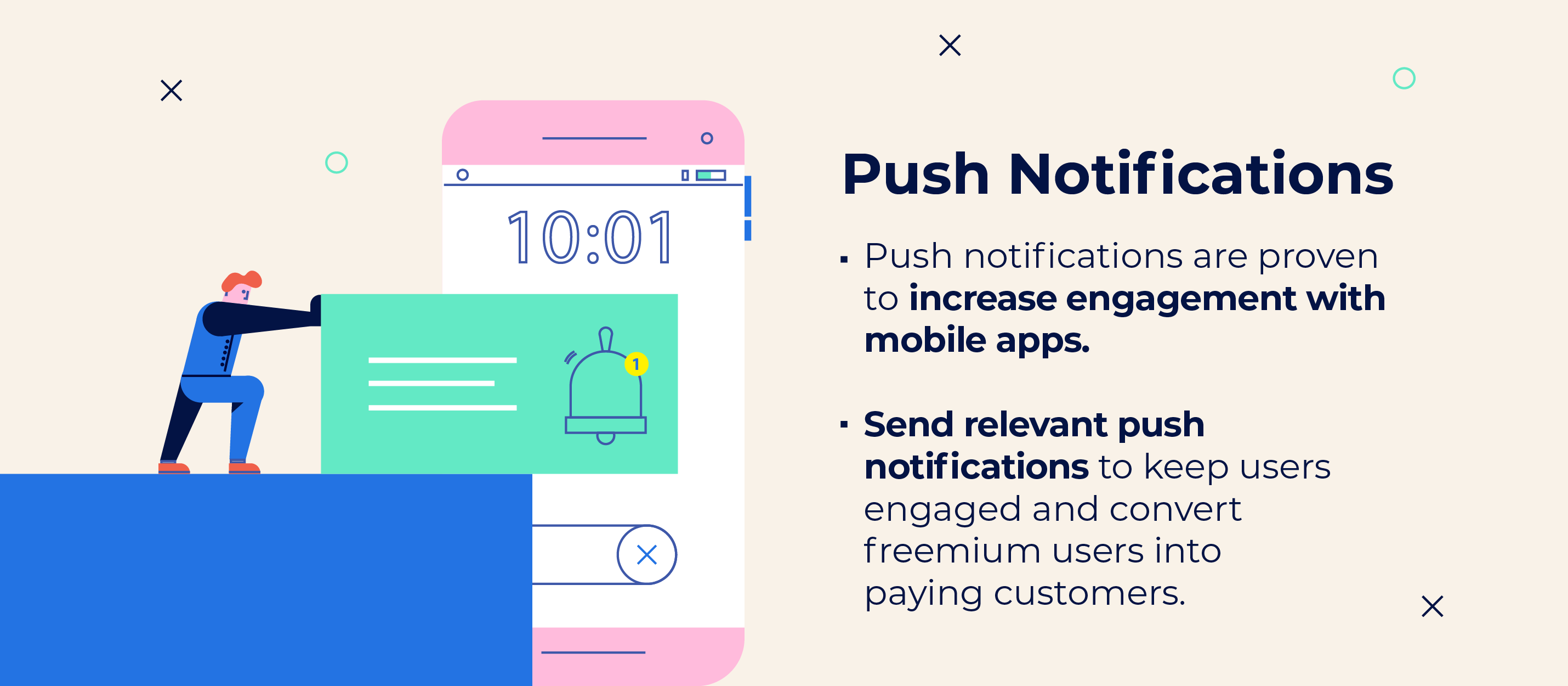 push notification tips for in app purchase