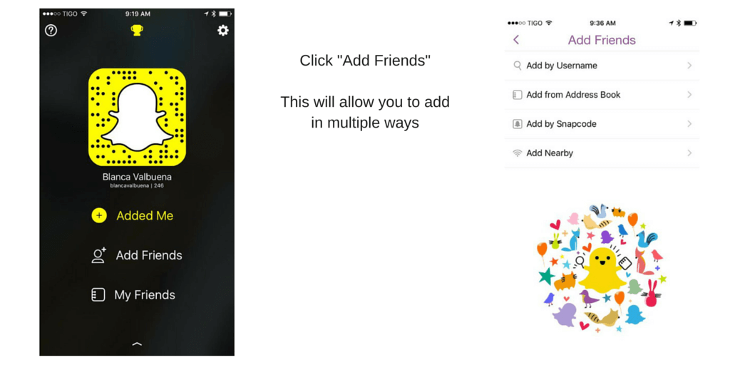 How to add friends to Snapchat