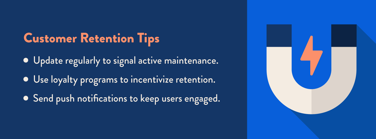marketing funnel retention stage tips to keep users and customers retained