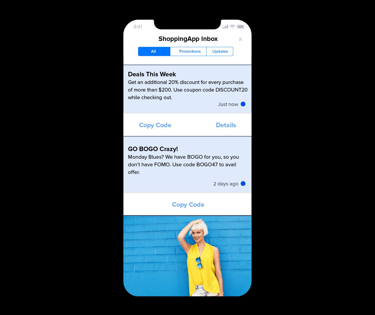 App Inbox Long Lasting Offers