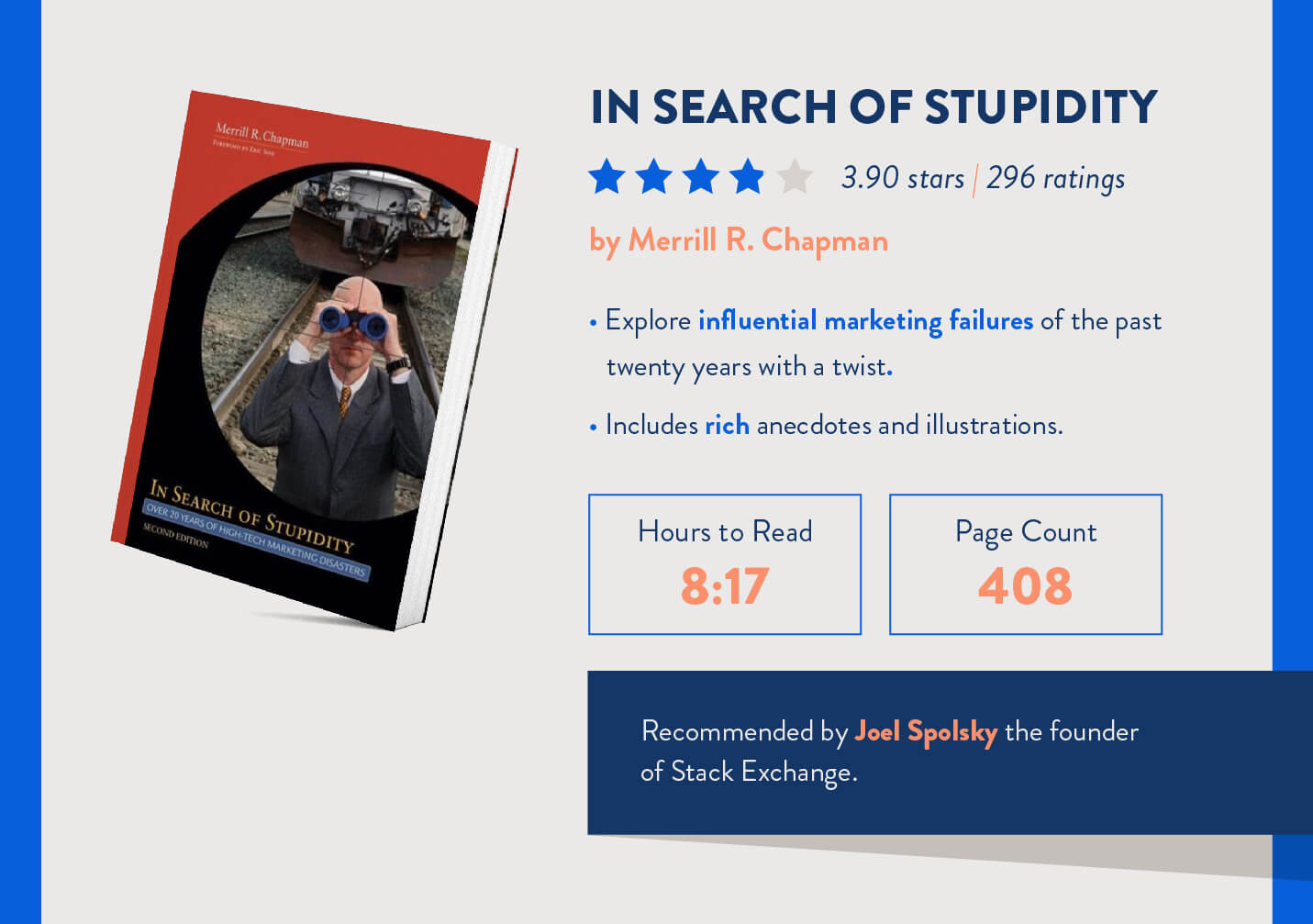 In search of stupidity page count and time it takes to read for mobile marketers