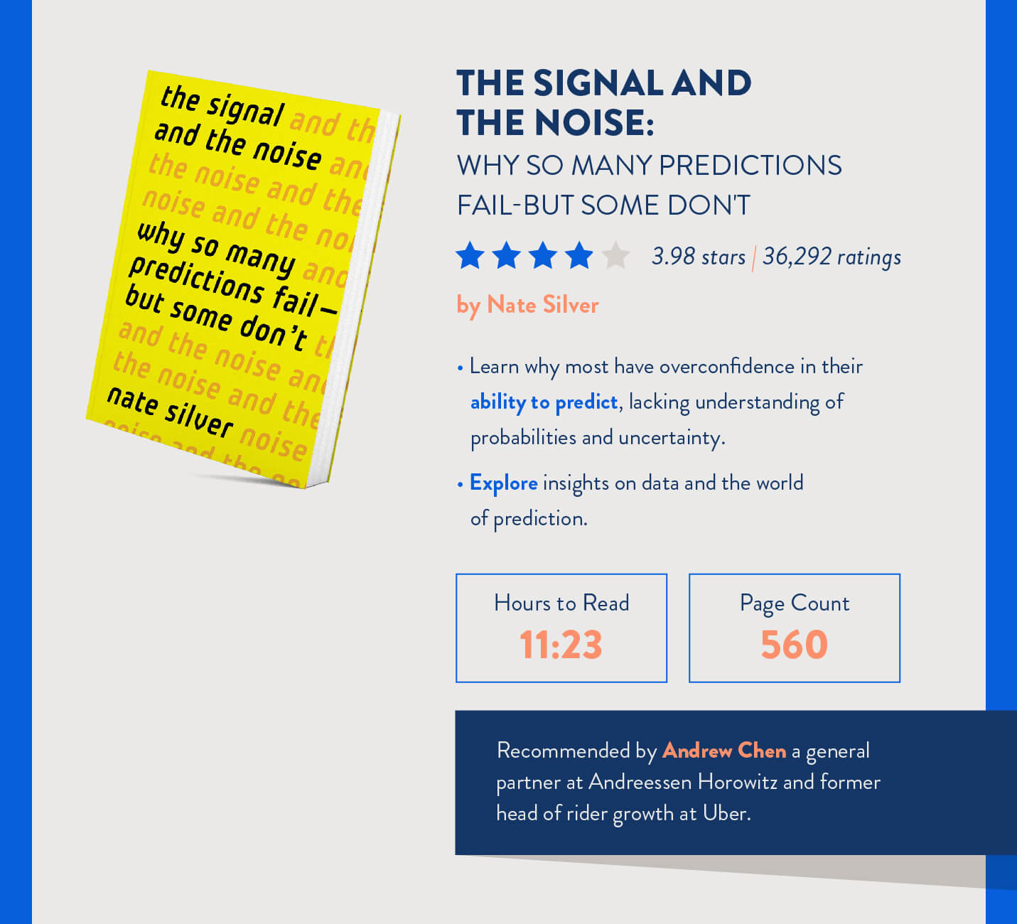 the signal and the noise why so many predictions fail for mobile marketers to read recommended by Andrew Chen