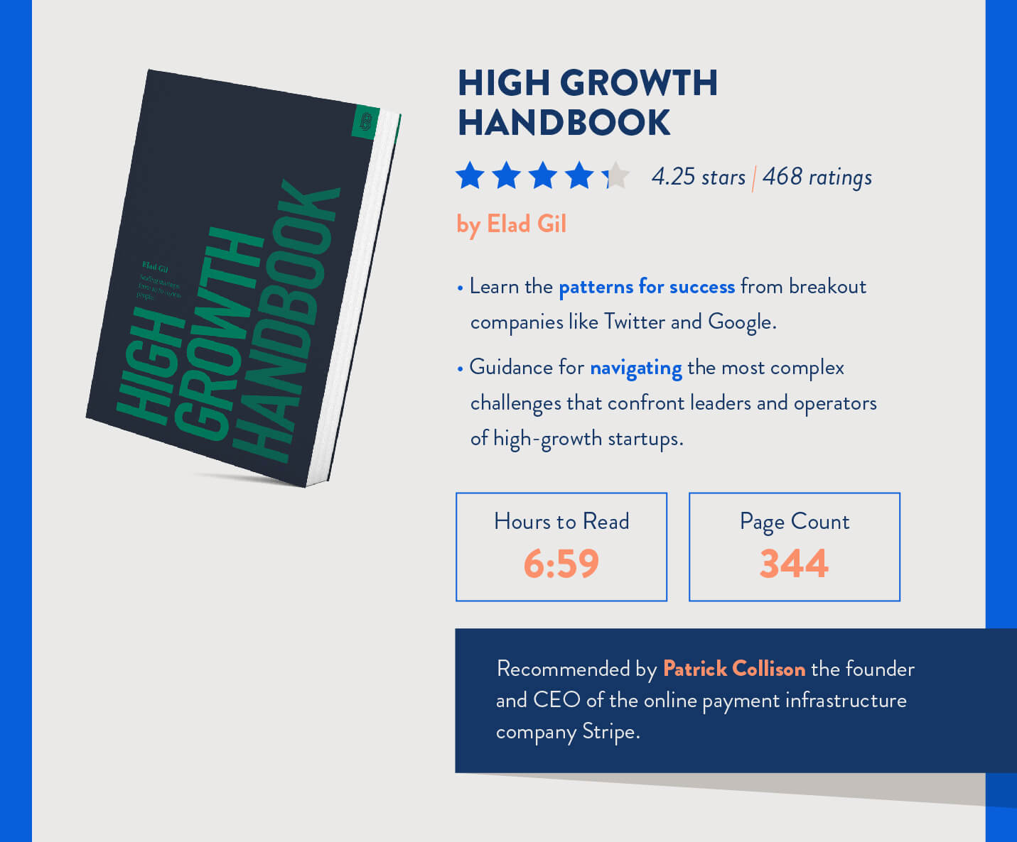 high growth handbook for mobile marketers to read recommended by Patrick Collison of Stripe