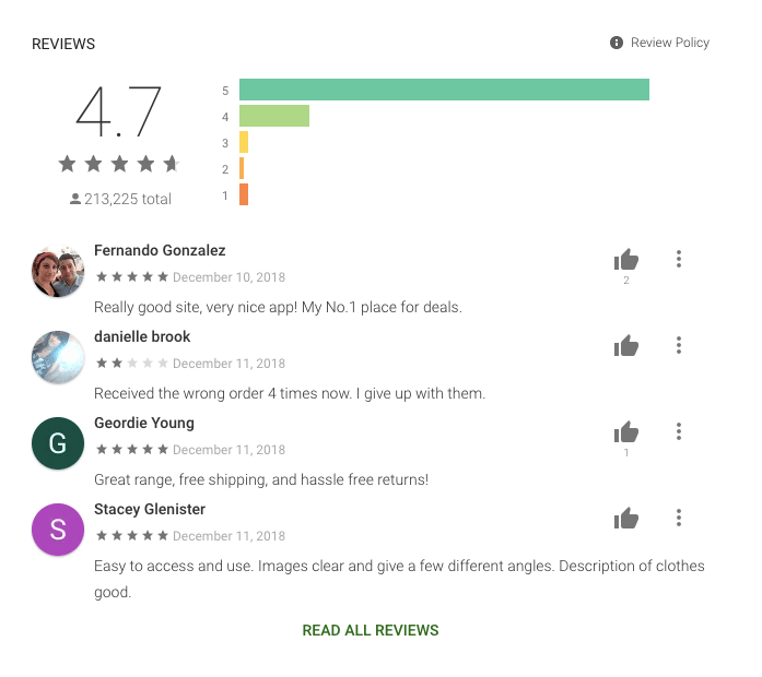 App Ratings