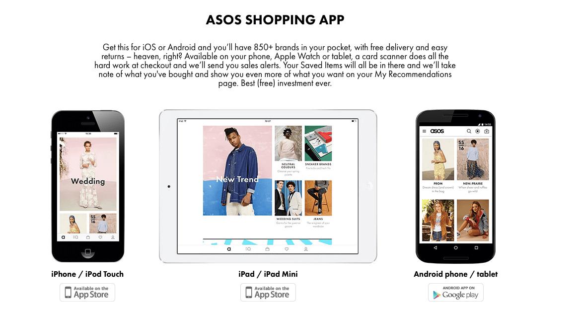 asos in app