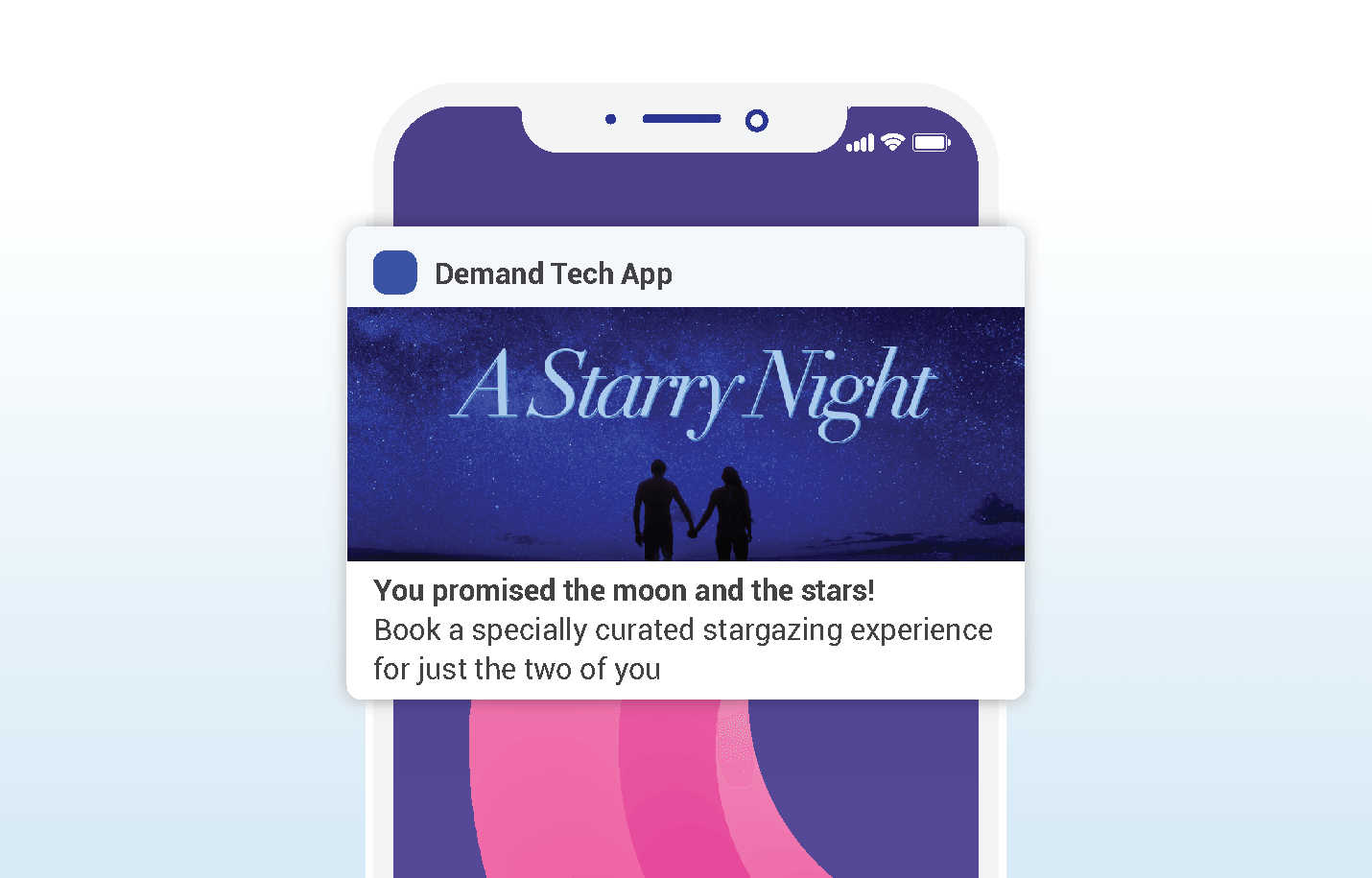 Valentines push notifications -Demand Tech - Gift an Experience