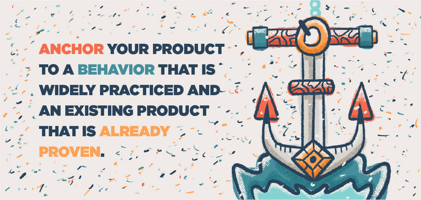 anchor product to a behavior and existing product
