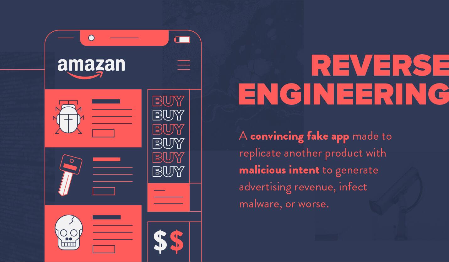 mobile app security reverse engineering example fake app