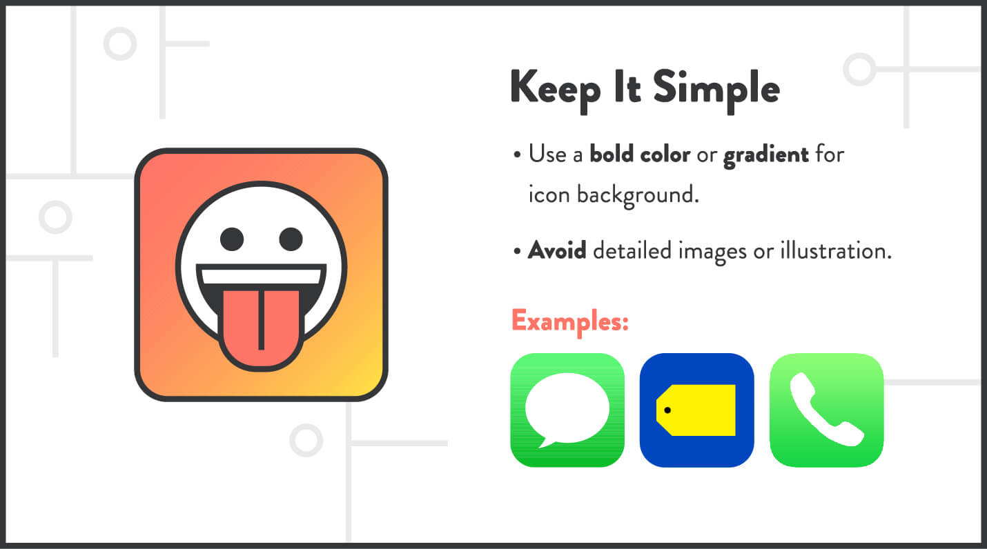 app icons tip to keep it simple like apple and best buy examples