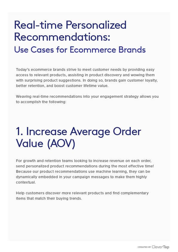 Use Cases for Ecommerce Brands