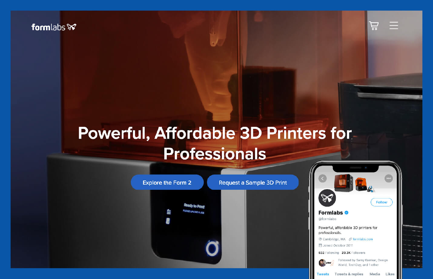 value proposition example from formlabs