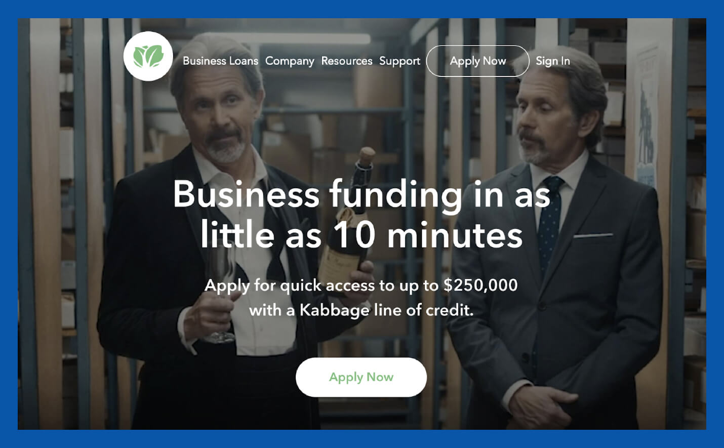 kabbage business funding value proposition