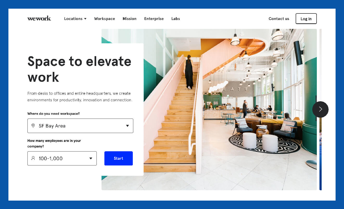 space to elevate work value proposition example from wework