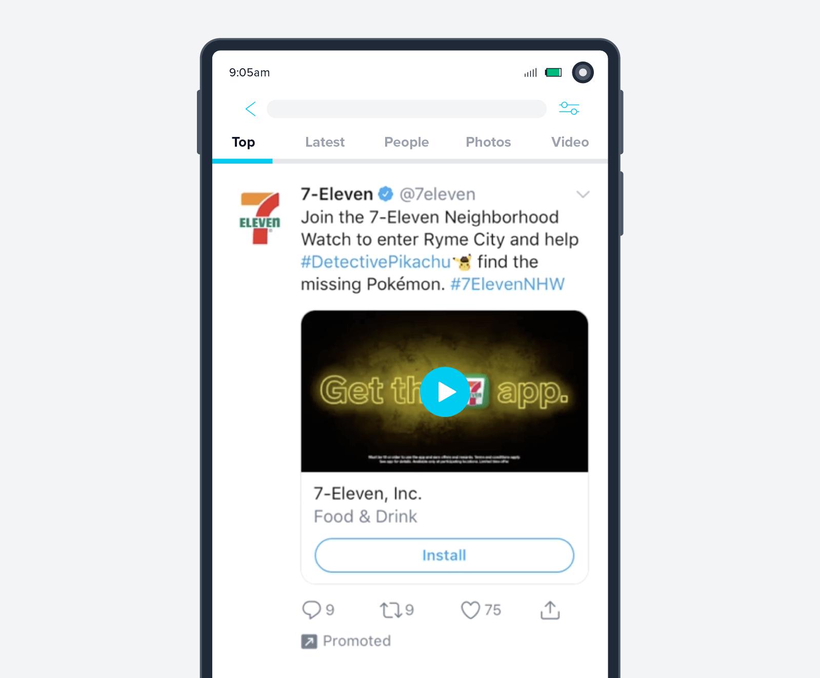 7Eleven app install ad