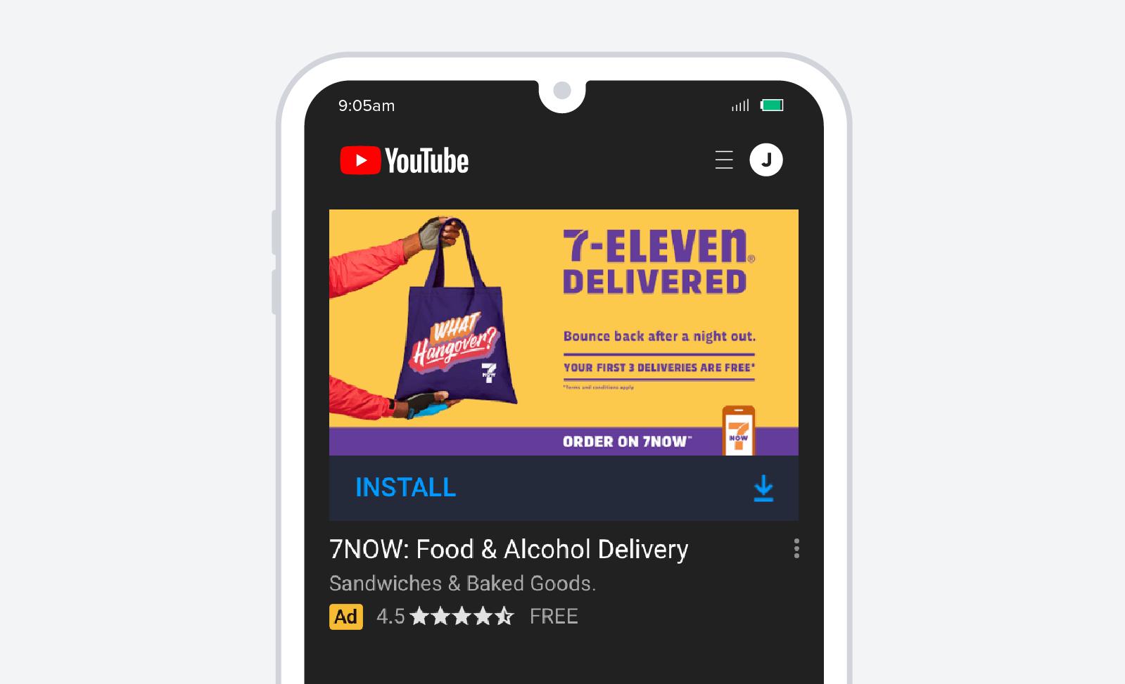 7Eleven mobile delivery screenshot